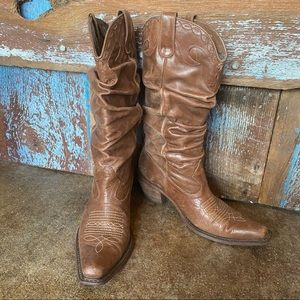 Steve Madden Saddle Slouch Cowboy Boots